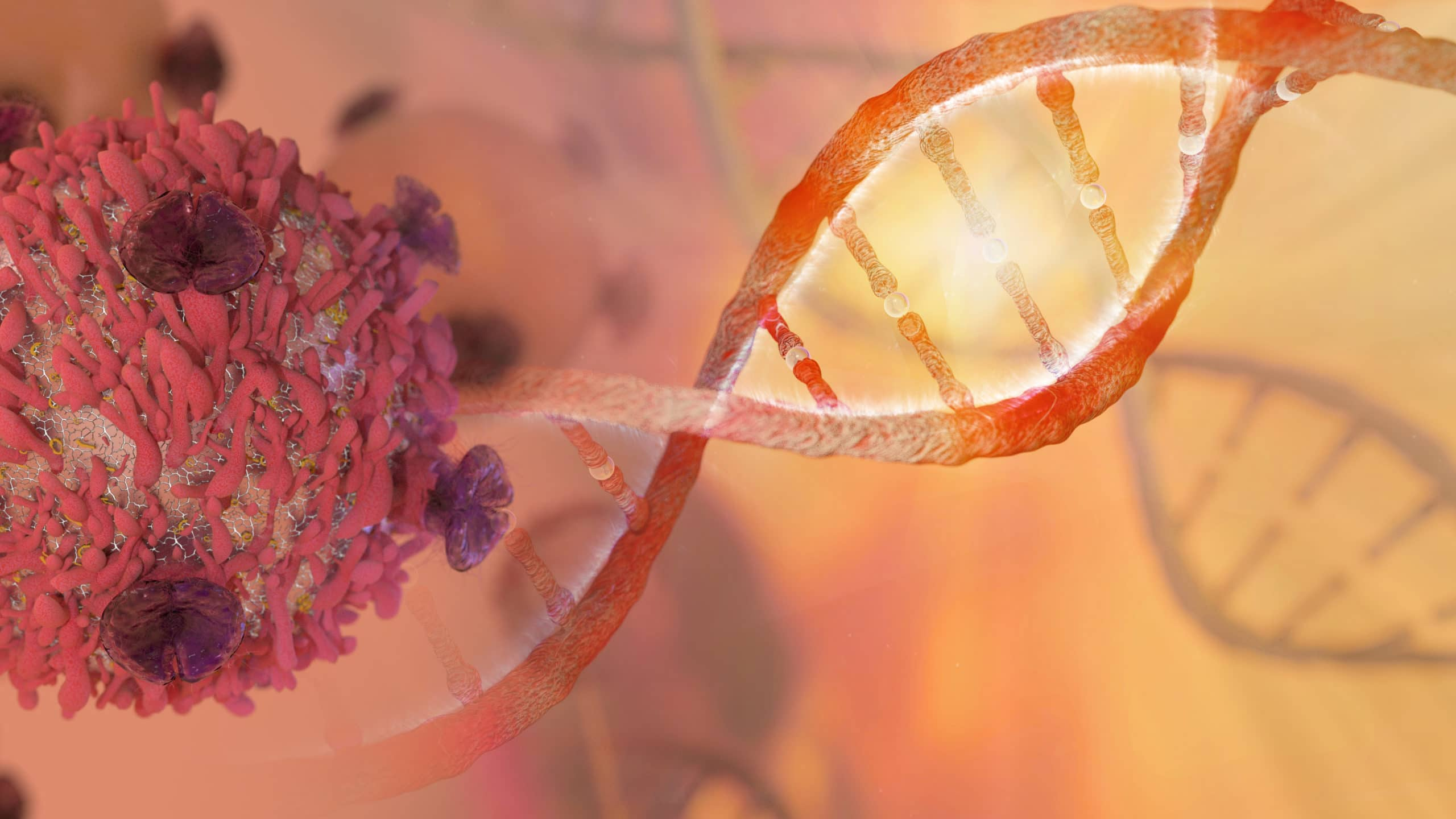 Blue Matter Consulting - DNA Strand and Cancer Cell - Oncology Cell Therapy